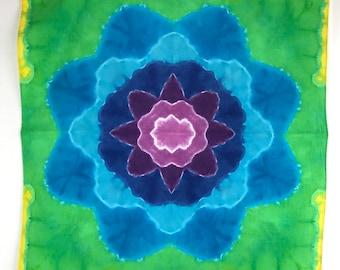 Tie Dye Flower Mandala Bandana