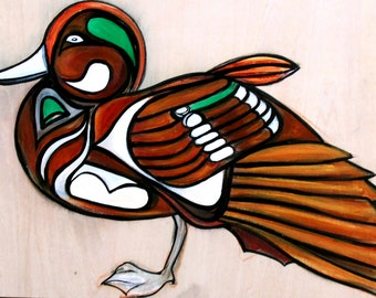 Green Winged Teal Duck Original Painting