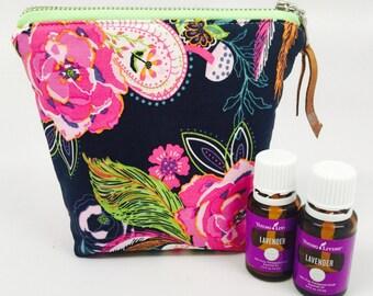 Essential Oil Bag, Essential Oil Case, Tassel Essential Oil Bag, Essential Oil Storage- holds 6 bottles, any brand! 5ML/15ML/Rollers