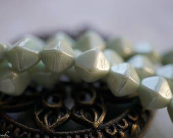 Seafoam Green, Bicone Beads, Czech Beads, Beads, N2425