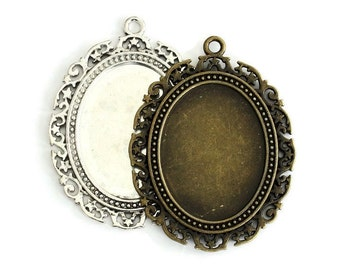 1pcs--Pendant Cabochon Settings (B12-12)