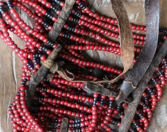 RARE SIDAMO, Sidama, AFAR beaded tribal necklace from Ethiopia.  tribally use Etnographic. collectible. Afrocentric. Tribal bijoux ethniques