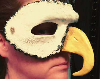 Bald Eagle mask, masquerade mask, costume mask, fantasy, guardian, Eagle Mask, half face mask, big beak, American Eagle