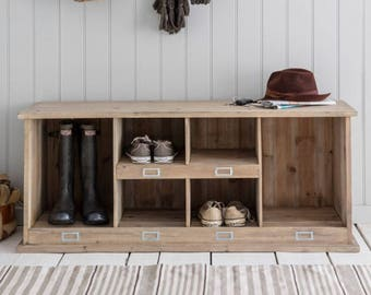 Chedworth Wooden Welly Boot Locker. Shoe and boot storage. Great for your porch or hallway. - WRWO01