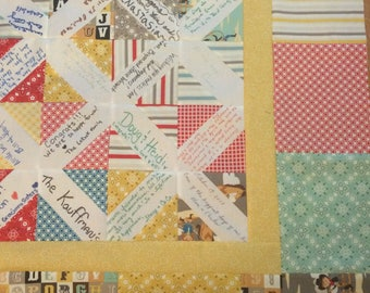 Scrappy Quest Book Quilt - SAMPLE