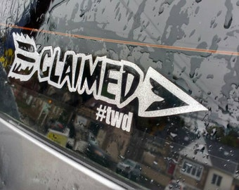 Walking Dead Daryl Dixon inspired CLAIMED decal