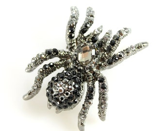 Spider Jewelry, Spider Brooch, Spider Broach, Spider Brooches, Black Spider Pin, Spider Broaches, DIY Project Jewelry Craft Embellishment
