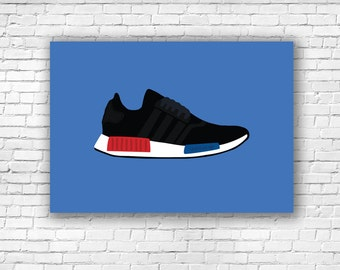 Adidas NMD Black Illustration Art Print