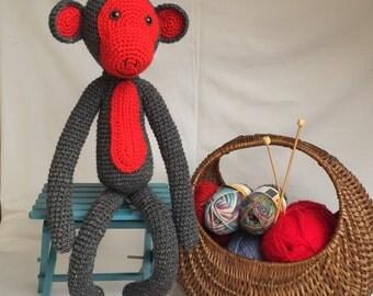 Crochet Monkey Soft Toy