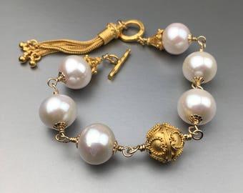 SOLD! Custom Order Available. Freshwater Pearl Bracelet