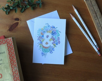 Floral Anniversary Card | Floral Wedding Card, Ampersand Card, Valentines Card for Her