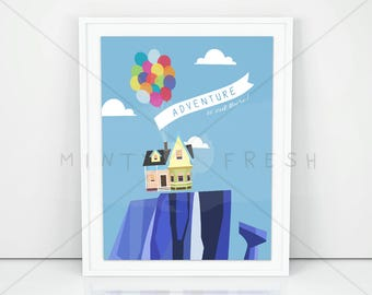 "Disney Pixar Up ""Adventure is out there"" - 8x10 Instant Download Print Frame Wall Decor"