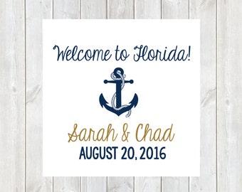 Wedding Welcome Tags, Anchor, Welcome Bag, Welcome Bags, Hotel Tags, Destination Wedding Tag, Wedding Welcome Bags, Nautical Wedding