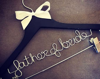 Father of the Bride Hanger with clips for pants