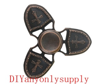 1pcs antiqued copper Fidget Finger Spinner Hand Toy Focus EDC Long Spin Stress Relief Pocket Desk Gift ADHD