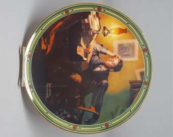 Norman Rockwell Collectible Plate, A Young Man's Dream, Vintage Collectible Plate, Edwin M Knowles, Gift idea