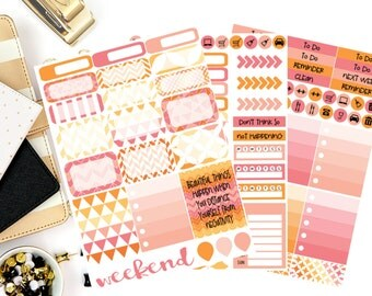 Evening Bonfire Weekly Kit Stickers! Perfect for your Erin Condren Life Planner, calendar, Paper Plum, Filofax!