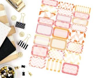 Evening Bonfire Half and Quarter Box Stickers! Perfect for your Erin Condren Life Planner, calendar, Paper Plum, Filofax!