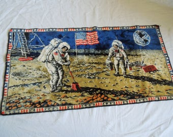 60s/70s Moon Landing Moon Walk Space Exploration Tapestry