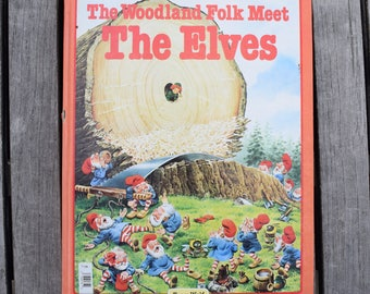 Vintage 1984 The Woodland Folk Meet the Elves by Tony Wolf Hardcover Children's Book Rand McNally and Company