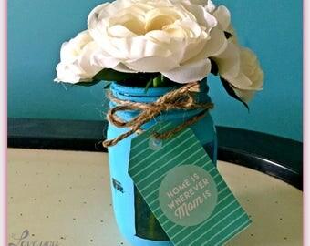Mason Jar|Rustic Look| Home Decor| Nightstand Decor |Photo Frame |Mason Jar Vase| Photo Frame| Mothers Day Gift