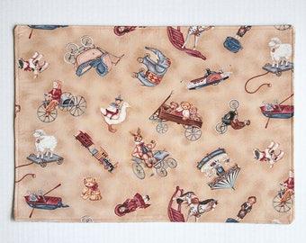Placemats Antique Toys Pattern