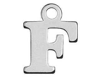 Charm Letter 'F' Sterling Silver 925