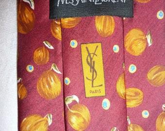 YSL Yves Saint Laurent 100% silk Tie necktie made in Italy
