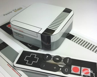 Nintendo Classic NES inspired Apple TV Decal / Skin