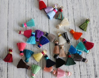10 Tiny Tassels, Bracelet Tassel,Colorful Jewelry Tassels, Mini Bohemia Tassels,Craft Tassels,Silk Tassel,Earring Fringe