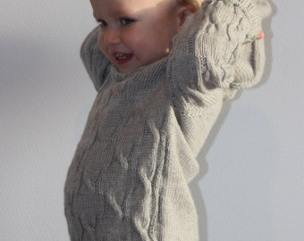 Merino wool baby sweater. Baby knitted clothes. Wool baby clothes. Knitted baby cardigan. Knit baby sweater. Knit baby clothes. Baby layette