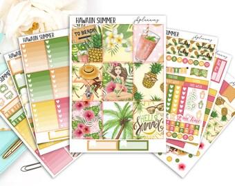Hawaiian Summer   Summer Planner Sticker Deluxe Kit