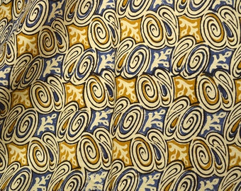 Indian fabric for quilting, summer dress, crafting Block Print Cotton Fabric - Cotton Fabric sold by the yard costume fabric