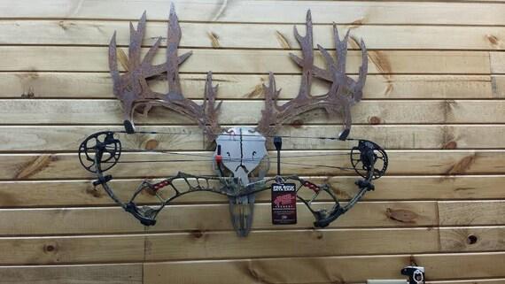 Steel Wall Compound : Metal deer skull bow rack custom logo integration welcome