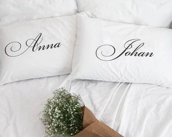mr and mrs pillow etsy. Black Bedroom Furniture Sets. Home Design Ideas