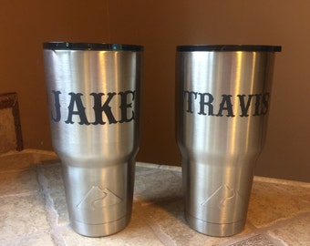 Personalized  Laser Engraved Stainless Steel Tumbler 30oz by Ozark Trail