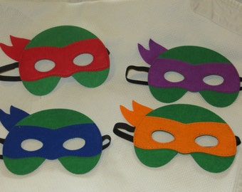 Ninja Turtle masks, teenage mutant ninja turtle masks, TMNT masks, Raphael mask, Donatello mask, Leonardo mask, Michelangelo mask