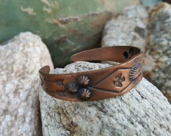 Arizona Copper Cuff Bracelet Native American Style