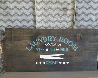 Laundry room sign, laundry sign, laundry room decor, wood laundry room sign, wooden laundry room sign, farmhouse laundry sign