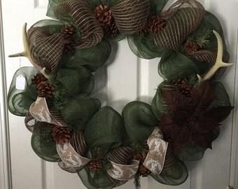 Beautiful Hunters/Fall/Winter Wreath