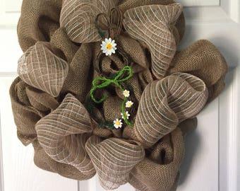 Burlap Spring Time/ Easter Wreath