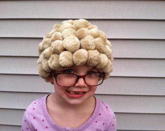 Toddler costume, Baby costume, Baby Halloween, Granny costume, Old lady costume, Granny wig, Grandma costume, Old lady hair, 100th day