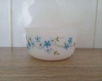 Ramekin arcopal forget-me-not made in France ramekin flower Cup