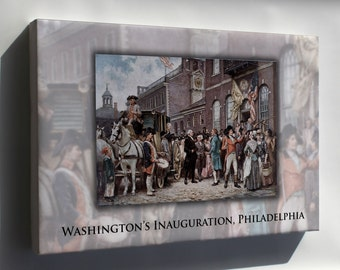 Canvas 24x36; George Washington'S Inauguration At Philadelphia By Jean Leon Gerome Ferris