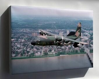 Canvas 24x36; U.S. Air Force Ec-130E Hercules,193Rd, Harrisburg, Pennsylvania