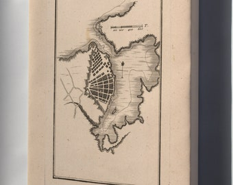 Canvas 16x24; Map Of Havana Cuba 1755