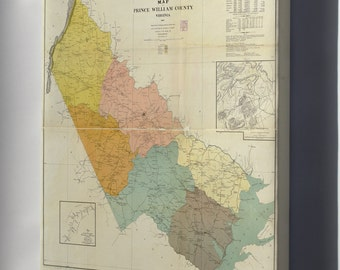 Canvas 16x24; Map Of Prince William County, Virginia 1901