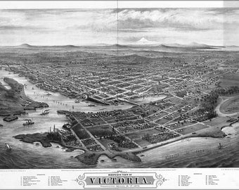 16x24 Poster; Map Of Victoria, Vancouver Island Canada 1878