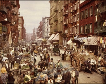16x24 Poster; Mulberry Street In New York City, Which Shows The Evocative Coloration Characteristic Of The Process. Photochrom