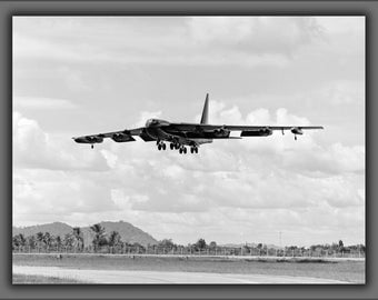16x24 Poster; U.S. Air Force Boeing B-52 Stratofortress Aircraft Landing At U-Tapao Air Base; Vietnam War 1972